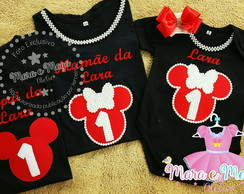 Kit Familia Minnie 3 pecas