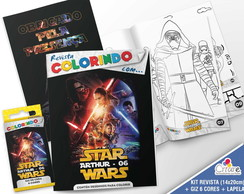 Kit Revista + Giz + Lapela - Star Wars