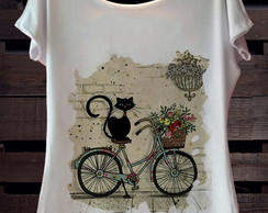 T-Shirt cat bike