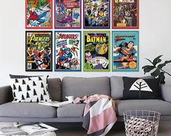 Placas Decorativas Em Mdf 20x30 Geeks Marvel Comics