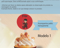 Topper 5 cm -Harry Potter-Modelo 1