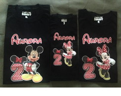 KIT CAMISETAS MINNIE