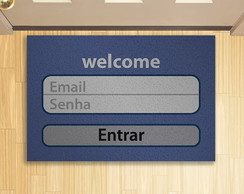 Tapete Capacho Login Welcome