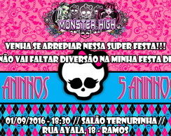 CONVITE DIGITAL MONSTER HIGH