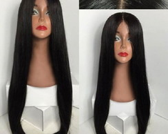 Front Lace cabelo humano 60cm liso yaki