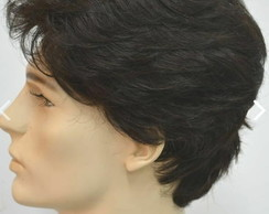 Lace wig invisible Plart cabelo humano prótese masculina