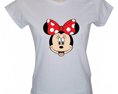 Camiseta Baby Look Personalizada, Minnie Mouse