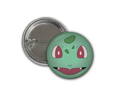 Botton Pokemon Bulbassaur - 2,5cm