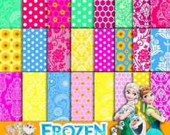 KIT DIGITAL PAPÉIS FROZEN FEVER 2