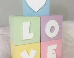 Cubo Decorativo com nome 7x7 cm Candy Collor