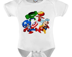Body Infantil Super Heróis