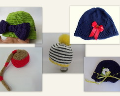 KIT COM 5 GORROS - Newborn