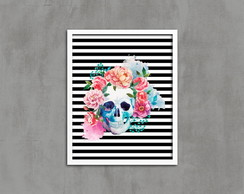 Quadro SKULL IN FLOWERS