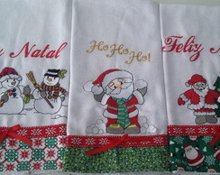 "Kit Panos de Prato Bordados ""Natal"""