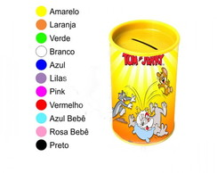 Kit 30 Cofrinhos Personalizados Tom e Jerry