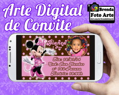 Arte Digital Convite Minnie Mouse