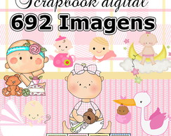 Scrapbook Digital Chá de Bebê - O mais completo do site