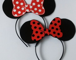 Tiaras Minnie vermelha e Mickey, black friday
