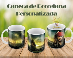 Piratas do Caribe Caneca de Porcelana