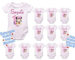 Kit 12 Body Mesversario Minnie Baby Disney Mesversário