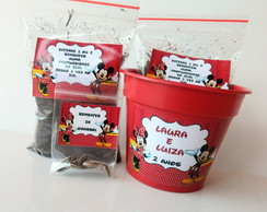 Kit Plantio Jardinagem Minnie