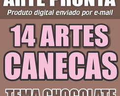 Kit Arte Digital Chocolate Namorados Amor Caneca REF002