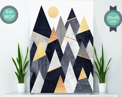 Geometric Mountain Poster