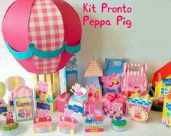 KIT (DIY) IMPRESSO E RECORTADO PEPPA PIG