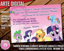 Convite My Little Pony 1 (Digital)