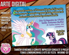 Convite My Little Pony 3 (Digital)