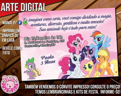 Convite My Little Pony 6 (Digital)