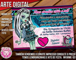 Convite Monster High 2 (Digital)