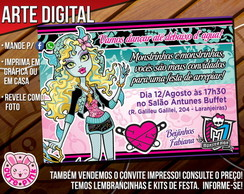 Convite Monster High 3 (Digital)