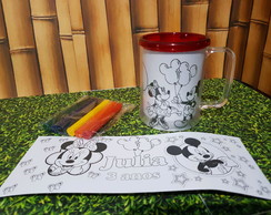 caneca com kit de colorir