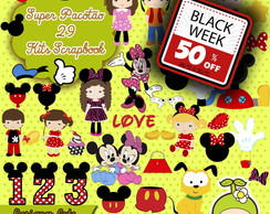 Kit Scrapbook Digital Mickey e Minnie