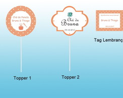 Kit Topper e Tag - Arte Digital