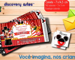 Convite Ingresso Circo do Mickey