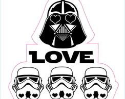 Adesivo love your Enemies Dart Vader Star Wars Geek #1196