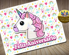 Unicornio papel arroz A4