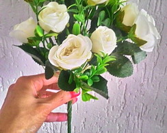 Buque Rosas Brancas Plus