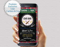 Convite Digital Chá Bar - Whatsapp