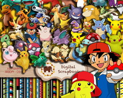 Kit Scrapbook Digital - Pokémon