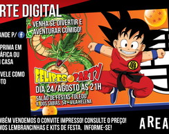 Convite Dragon Ball 1 (Digital)