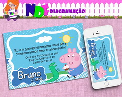 Convite Digital George Pig - peppa