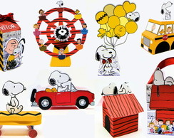 Kit Festa Pronta Silhouette Snoopy 1