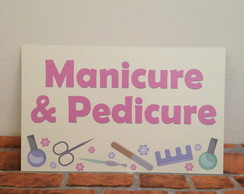 Placa Manicure e Pedicure