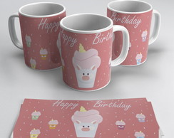 Caneca Unicórnio Happy Birthday