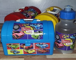 Kit Maletinha + Squeeze Hot Wheels