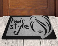 Tapete Capacho Divertido Hair Style 60x40