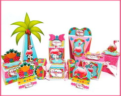 Kit festa personalizada Flamingo